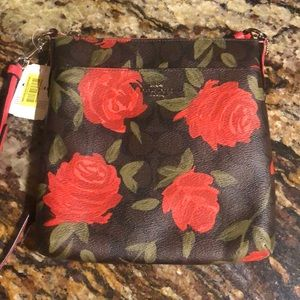 Coach roses crossbody purse new with tags